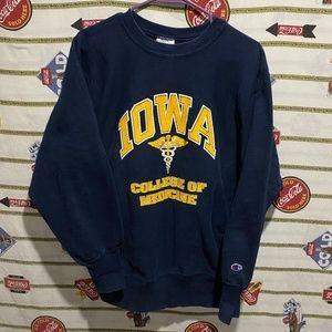 Vintage 90's Champion Reverse Weave Iowa Crewneck